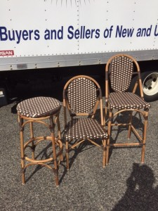 Chairs $85.00 Bar stools (with back) $95.00 Bar stools (without back) $75.00